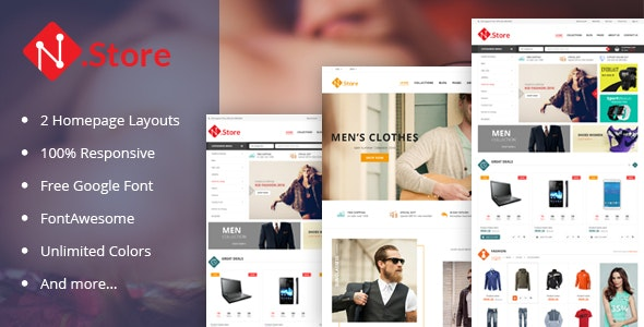 NStore - Multipurpose Responsive Magento Theme  - Magento eCommerce