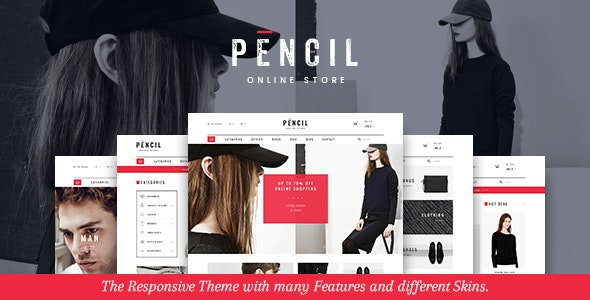 Pencil - Responsive Fashion Prestashop Theme - Fashion PrestaShop