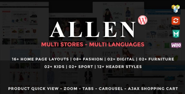 Allen - Multipurpose Responsive WooCommerce Theme - WooCommerce eCommerce