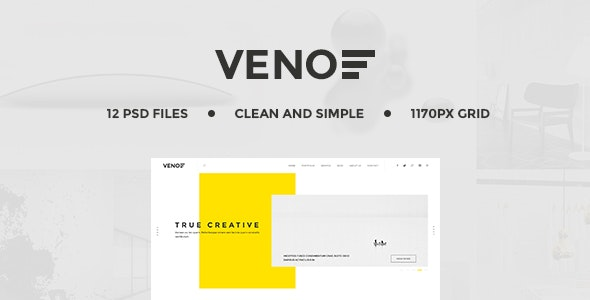 Veno | Creative Portfolio PSD Template - Creative Photoshop