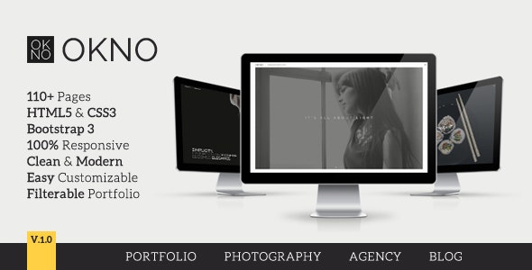 OKNO: Responsive Multipurpose HTML5 Template - Creative Site Templates