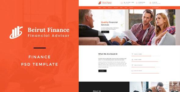 Beirut : Finance PSD Template - Business Corporate