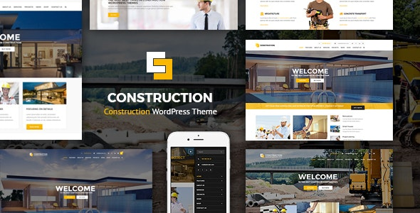 Construction - WordPress Theme - Business Corporate