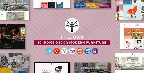 WordPress WooCommerce Theme for Furniture Decoration Design eCommerce Store | WP TheOak - WooCommerce eCommerce