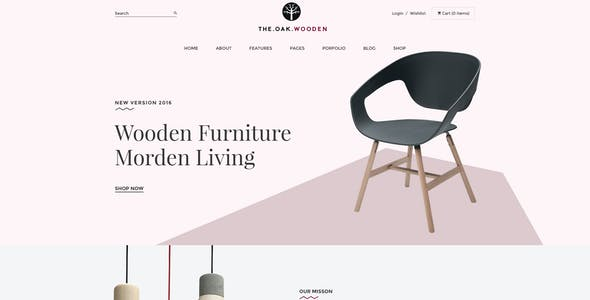 WordPress WooCommerce Theme for Furniture Decoration Design eCommerce Store | WP TheOak