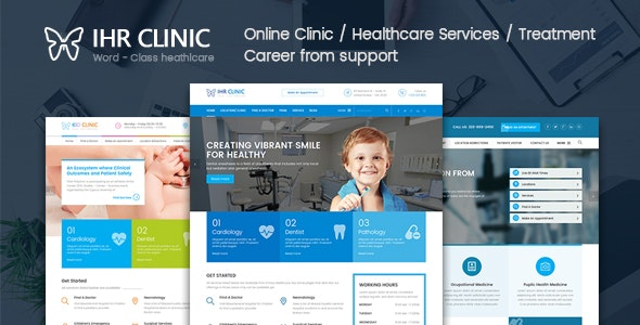 IHR Clinic HTML5 Template - Corporate Site Templates