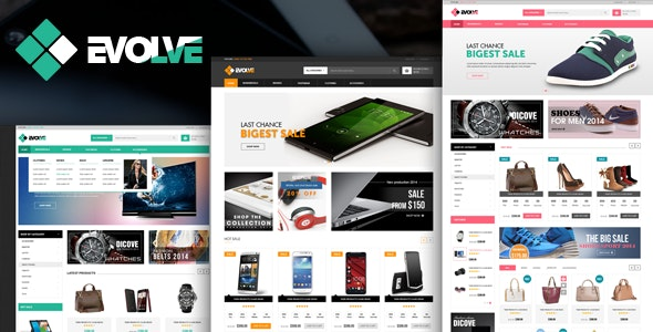 Evolve - eCommerce HTML Template - Shopping Retail