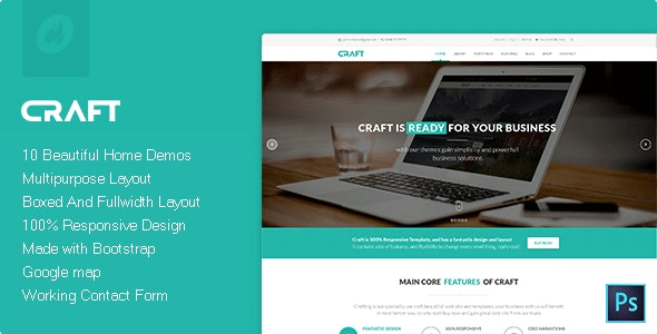 Craft - Multipurpose & Responsive HTML Theme - Creative Site Templates
