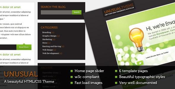 UNUSUAL -HTML/CSS Beautiful Theme - Portfolio Creative