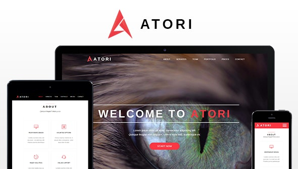 Atori - One Page Muse Template - Muse Templates