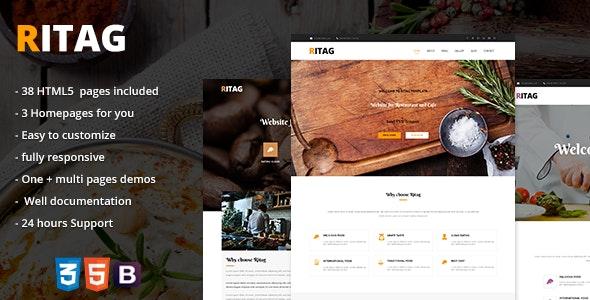 Ritag - Multipurpose restaurant & coffee HTML5 Website Template - Restaurants & Cafes Entertainment