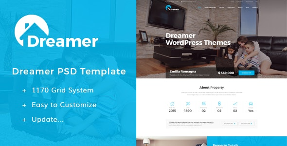 Dreamer - Single Property PSD Templates - Miscellaneous Photoshop