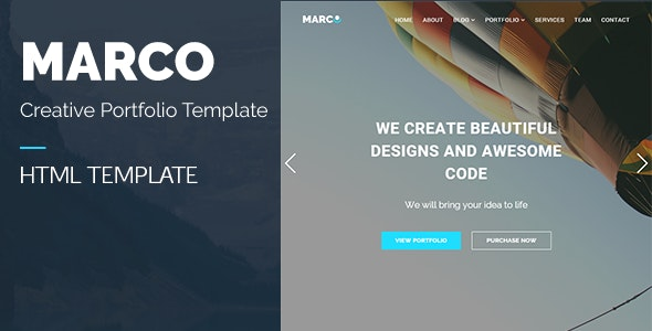 MARCO - Responsive Multipurpose HTML Template - Creative Site Templates