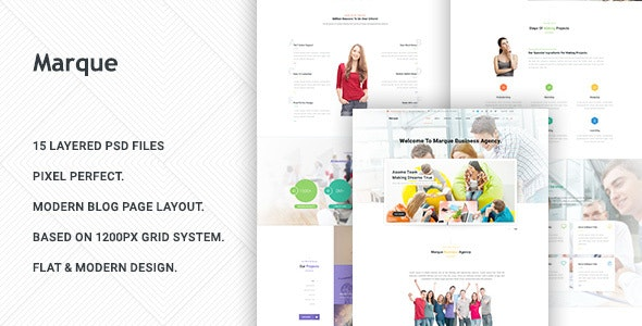 Marque - Business PSD Template - Business Corporate