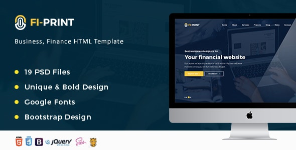Fi-Print – Business, Finance, Accountant Corporate HTML Template  - Business Corporate