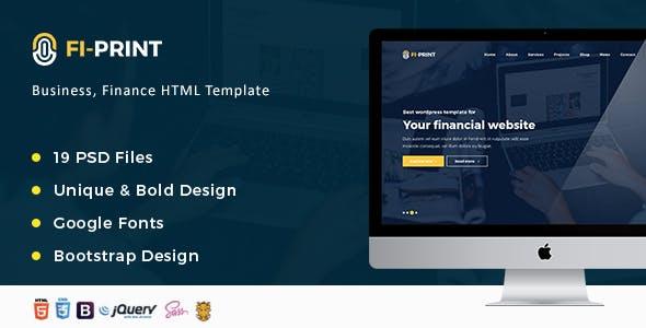 Fi-Print – Business, Finance, Accountant Corporate HTML Template