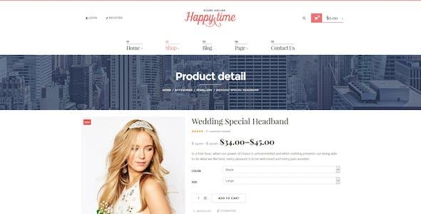 HappyTime - Wedding Woocommerce WordPress Theme