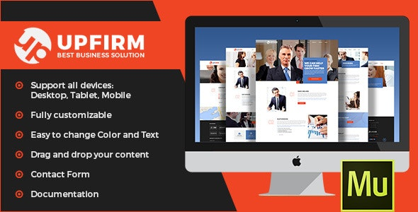 UpFirm - Multipurpose Muse Template - Corporate Muse Templates