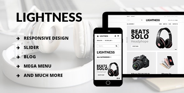 Lightness - Premium OpenCart theme - Technology OpenCart