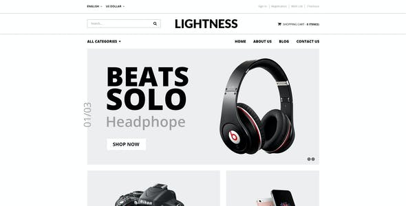 Lightness - Premium OpenCart theme