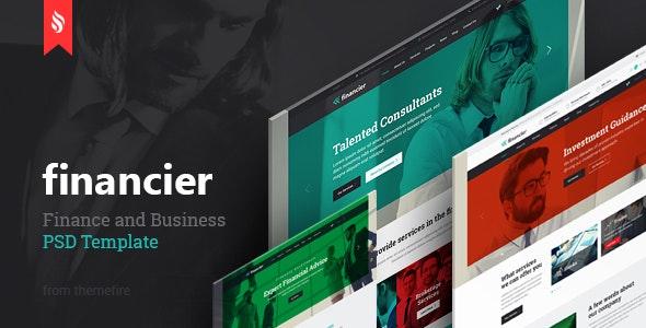 Financier - Finance & Business PSD Template - Business Corporate