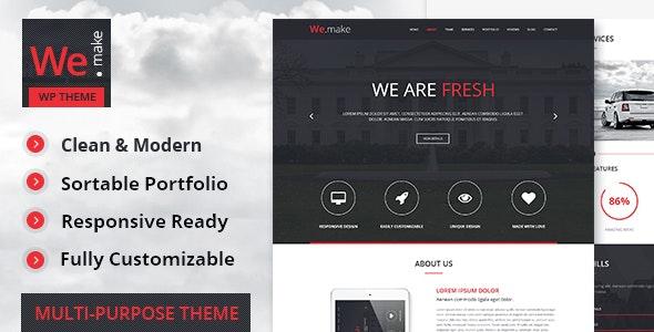 We.Make - Responsive WordPress Theme - Portfolio Creative