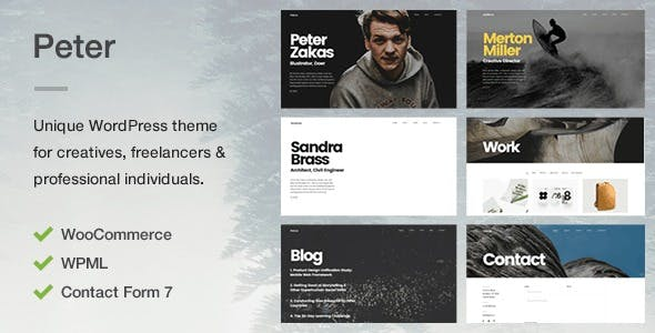 Peter - A Unique Portfolio Theme for Creatives, Freelancers & Professional Individuals