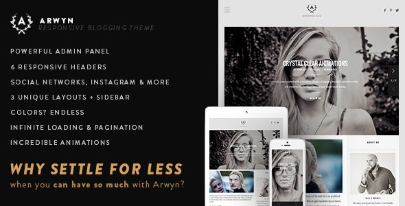 Arwyn - A Charming Personal WordPress Blog Theme - Personal Blog / Magazine