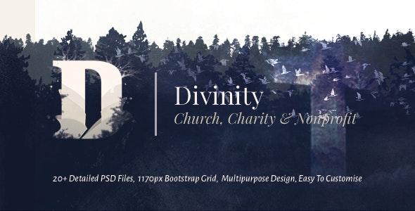 Divinity - Unique Church, Nonprofit & Charity Template PSD - Nonprofit Photoshop