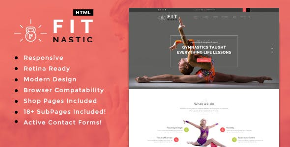 Fitnastic | Gym & Fitness HTML Template