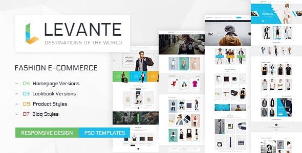 Levante - Clean Shop PSD Templates