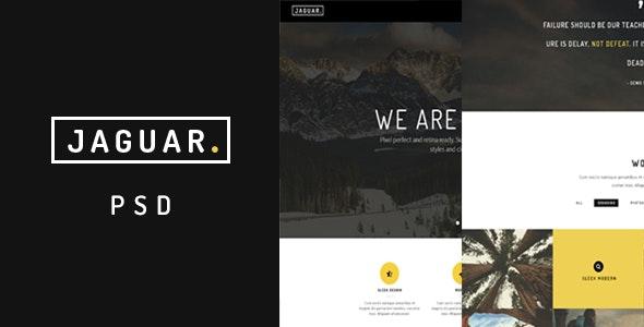 Jaguar | One Page PSD - Corporate Photoshop