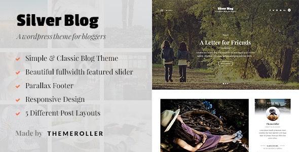 Silver Blog - A Simple WordPress Blog Theme - Blog / Magazine WordPress