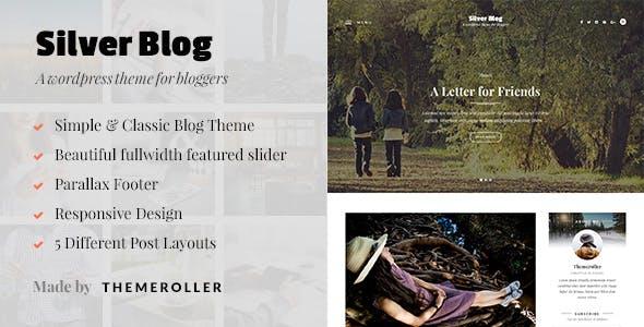 Silver Blog - A Simple WordPress Blog Theme