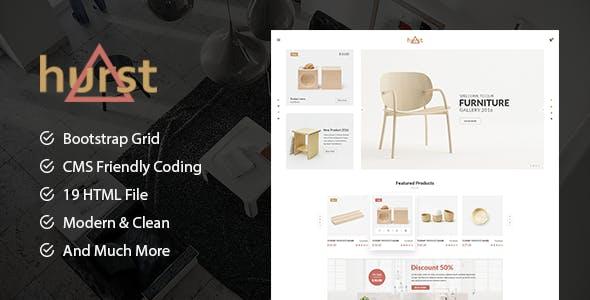 Hurst - Furniture Store eCommerce HTML Template