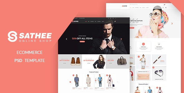 Sathee - eCommerce PSD Template - Fashion Retail