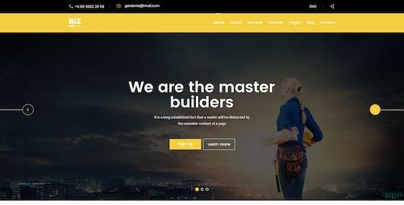 BizPro – Multipurpose PSD Template for any company
