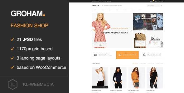 Groham - Fashion eCommerce PSD template - Fashion Retail