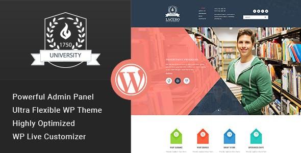 Lacero - Education & University WordPress Theme