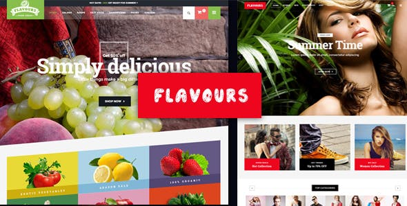 Flavours Fruit Store, Organic Food Shop WooCommerce Theme