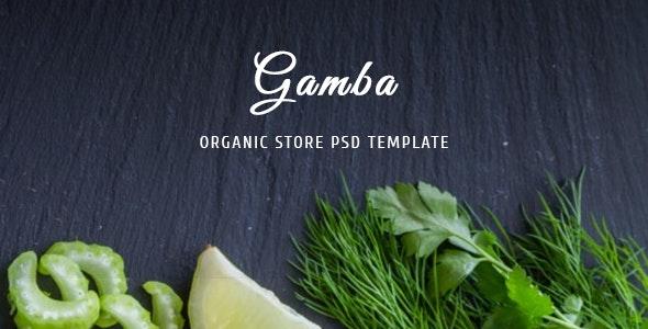 Gamba - Organic PSD Template - Food Retail