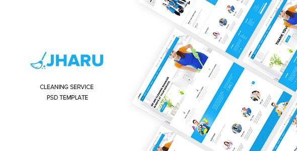 Jharu – Cleaning Service PSD Template - Business Corporate