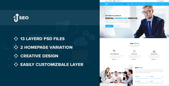 SEO – Marketing and SEO PSD Template - Corporate PSD Templates
