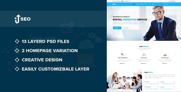 SEO – Marketing and SEO PSD Template