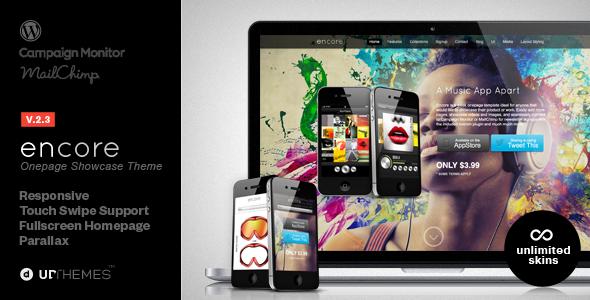Encore Responsive Product Showcase WordPress Theme - Creative WordPress