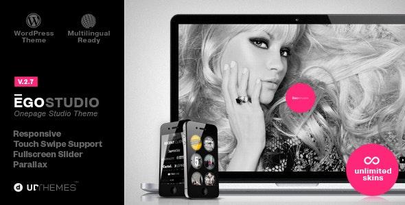 Ego Onepage Parallax Responsive WordPress Theme - Portfolio Creative