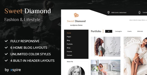 Sweet Diamond - Fashion & Lifestyle Personal Blog - Blog / Magazine WordPress