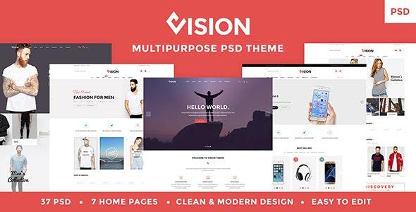 Vision - Multipurpose Store   Portfolio   Blog PSD Template - Photoshop UI Templates