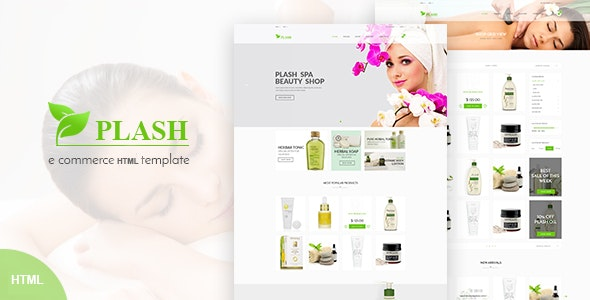 Plash – Spa Bootstrap Template - Health & Beauty Retail