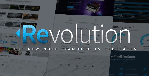Revolution - Parallax Multipurpose Muse Template - Muse Templates